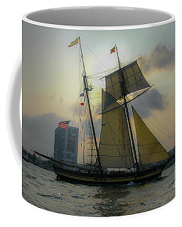 Coffee Mug featuring the photograph Tall Ship In Charleston by Dale Powell
