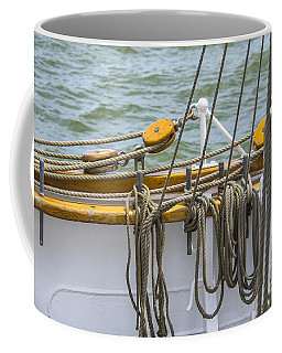 Coffee Mug featuring the photograph Tall Ship Rigging by Dale Powell