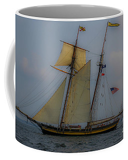 Coffee Mug featuring the photograph Tall Ships by Dale Powell