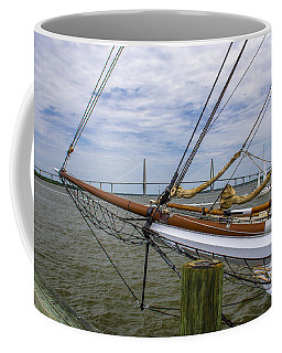 Coffee Mug featuring the photograph Tall Ships In Charleston by Dale Powell