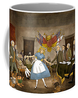 Coffee Mug featuring the painting Tammy In Independence Hall by Reynold Jay