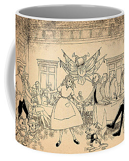 Coffee Mug featuring the drawing Tammy In Indpendence Hall by Reynold Jay