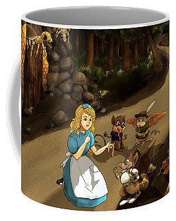 Coffee Mug featuring the painting Tammy Meets Cedric The Mongoose by Reynold Jay