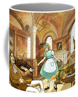 Coffee Mug featuring the painting Tammy Meets Mr. Scott by Reynold Jay