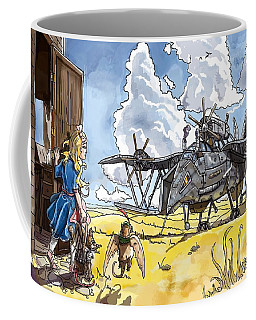 Coffee Mug featuring the painting Tammy Sees A Thingamajig by Reynold Jay