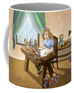 Coffee Mug featuring the painting Tammy The Little Doll Girl  by Reynold Jay