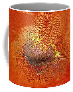 Tangerine Burst Coffee Mug by Leanna Lomanski