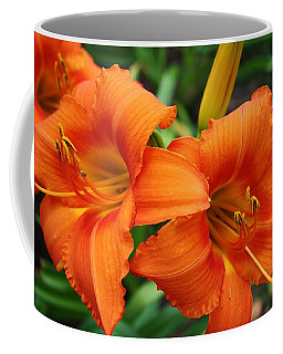 Coffee Mug featuring the photograph Tangerine Lush Daylily 2 by Bruce Bley