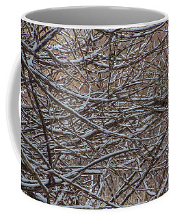 Coffee Mug featuring the photograph Tangled In The Snow by Beth Sawickie