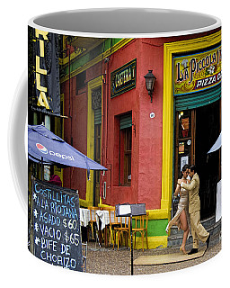 Tango Dancing In La Boca Coffee Mug by David Smith