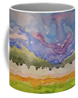 Coffee Mug featuring the painting Taos Fields by Beverley Harper Tinsley