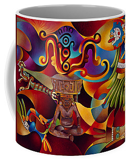 Tapestry Of Gods - Huehueteotl Coffee Mug