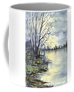 Moonlight Reflections In Loch Tarn In Scotland Coffee Mug