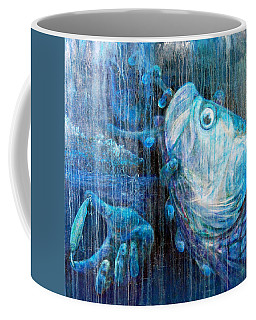 Coffee Mug featuring the painting Tarpon Flats by Ashley Kujan