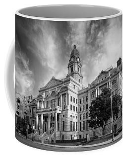 Tarrant County Courthouse Bw Coffee Mug