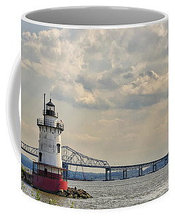 Tarrytown Lighthouse And Tappan Zee Bridge Sleepy Hollow Ny Coffee Mug