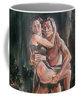 Coffee Mug featuring the painting Tarzan And His Mate by Bryan Bustard