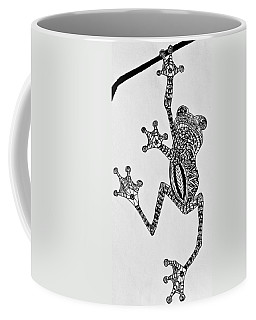 Tattooed Tree Frog - Zentangle Coffee Mug