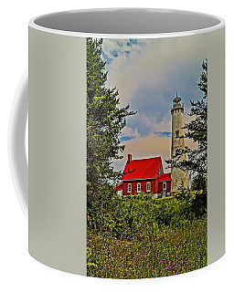 Tawas Point Light Retro Mode Coffee Mug