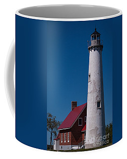 Coffee Mug featuring the photograph Tawas Point Lighthouse by Patrick Shupert
