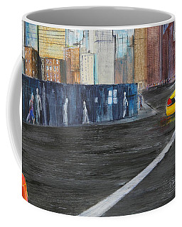 Taxi 9 Nyc Under Construction Coffee Mug