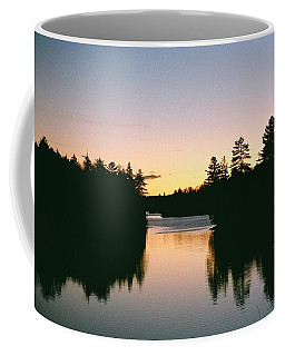 Coffee Mug featuring the photograph Tea Lake Sunset by David Porteus