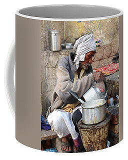 Tea Stall On The Ghats  - Varanasi India Coffee Mug