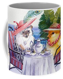 Tea Time For A Baby Chick And Hedgehog Coffee Mug