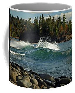 Teal Blue Waves Coffee Mug