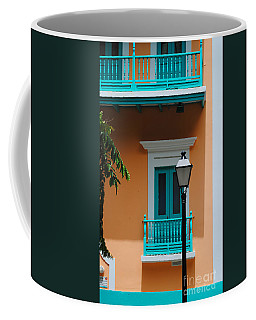 Teal With Pale Orange Coffee Mug