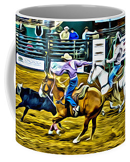 Team Ropers Coffee Mug by Alice Gipson