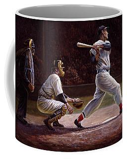 Ted Williams At Bat Coffee Mug