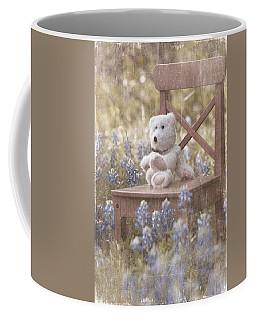 Teddy Bear And Texas Bluebonnets Coffee Mug