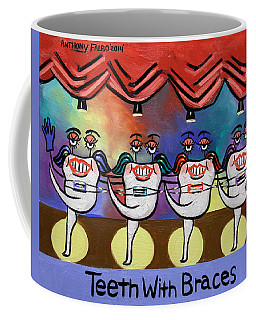 Coffee Mug featuring the painting Teeth With Braces Dental Art By Anthony Falbo by Anthony Falbo