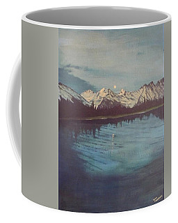 Coffee Mug featuring the painting Telequana Lk Ak by Terry Frederick