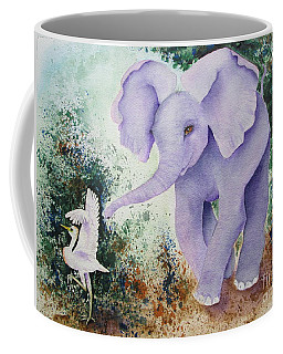 Coffee Mug featuring the painting Tembo Tag by Diane DeSavoy