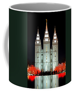 Coffee Mug featuring the photograph Temple Lights by Dustin  LeFevre