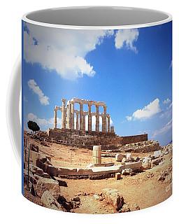 Temple Of Poseidon Vignette Coffee Mug