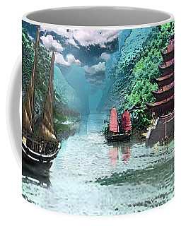 Temple On The Yangzte Coffee Mug