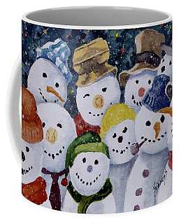 Ten Little Snowmen Coffee Mug