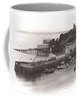Tenby Harbour And Castle Hill Vignette Coffee Mug