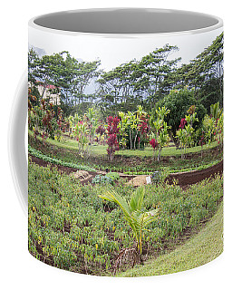 Coffee Mug featuring the photograph Tending The Land by Suzanne Luft