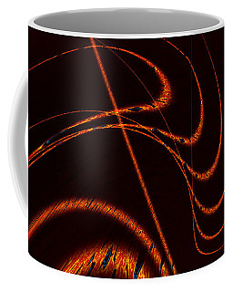 Coffee Mug featuring the digital art Tendrils Of Fire by Judi Suni Hall