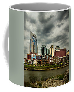 Tennessee - Nashville From Across The Cumberland River Coffee Mug