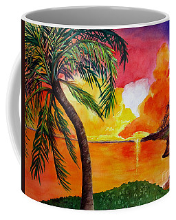 Coffee Mug featuring the painting Tequila Sunset by Diane DeSavoy