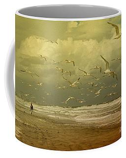 Terns In The Clouds Coffee Mug by Deborah Benoit