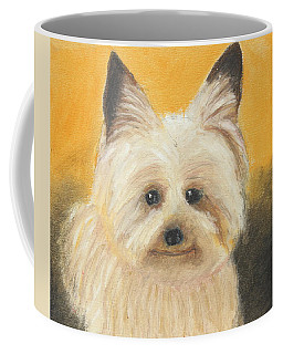 Coffee Mug featuring the painting Terrier by Jeanne Fischer
