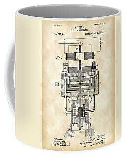 Tesla Electric Generator Patent 1894 - Vintage Coffee Mug by Stephen Younts