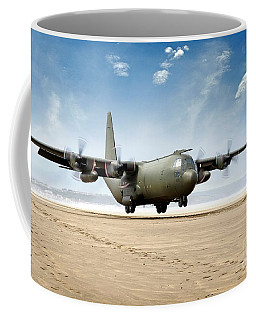 Test Landing By A C-130 Mk3 Hercules Transport Aircraft Coffee Mug