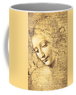 Coffee Mug featuring the painting Testa Di Fanciulla Detta La Scapigliata by Leonardo Da Vinci